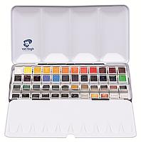 Набор акварельных красок VAN GOGH 48 кювет + кисть, металл , Royal Talens
