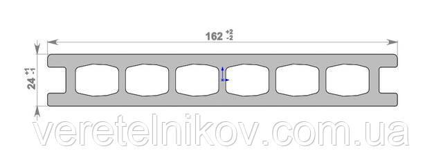 Террасная доска HOLZDORF Brush (Хольцдорф Браш) 162×24х2400 мм