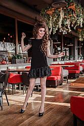 Вечернее бархатное мини платье