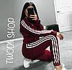 Женский спортивный костюм Adidas из двунитки, фото 4