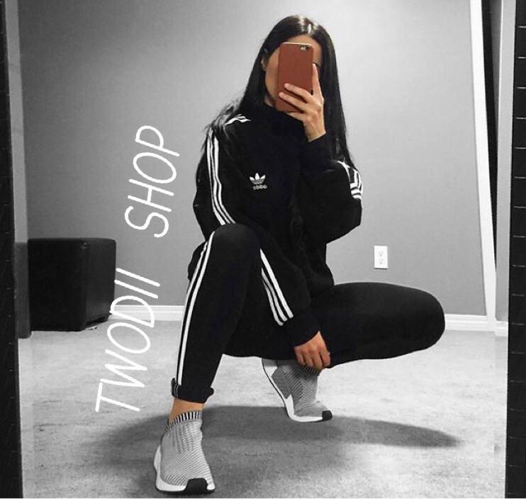 Женский спортивный костюм Adidas из двунитки