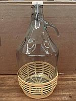 Бутыль с бугельной пробкой и пластиковой корзиной, 5 л , фото 1