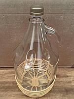 Бутыль с резьбовой пробкой и пластиковой корзиной, 5 л , фото 1