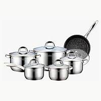 Набор посуды (Набор кастрюль) 12 пр. Peterhof PH-15238
