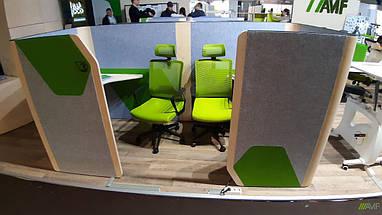 Кабина двойная Cabi фетр серый/фетр зеленый черный графит TM AMF, фото 3