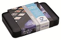 Набор акварельных красок VAN GOGH Pocket box SPECIALTY, 12 кювет+кисточка, металл, Royal Talens