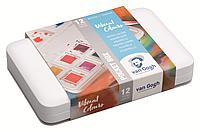 Набор акварельных красок VAN GOGH Pocket box VIBRANT COLOURS, 12 кювет+кисточка, пластик, Royal Talens