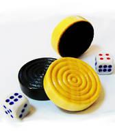 Набор шашки с кубиками W30 для игры в нарды