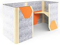 Кабина двойная Cabi фетр серый/фетр оранжевый, белый беж TM AMF