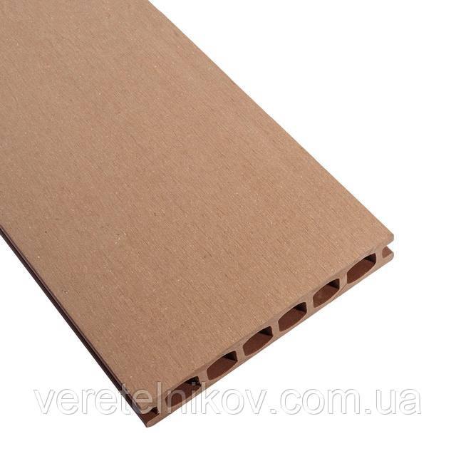 Террасная доска HOLZDORF 162×24х2400 мм, Браш, Шоколад