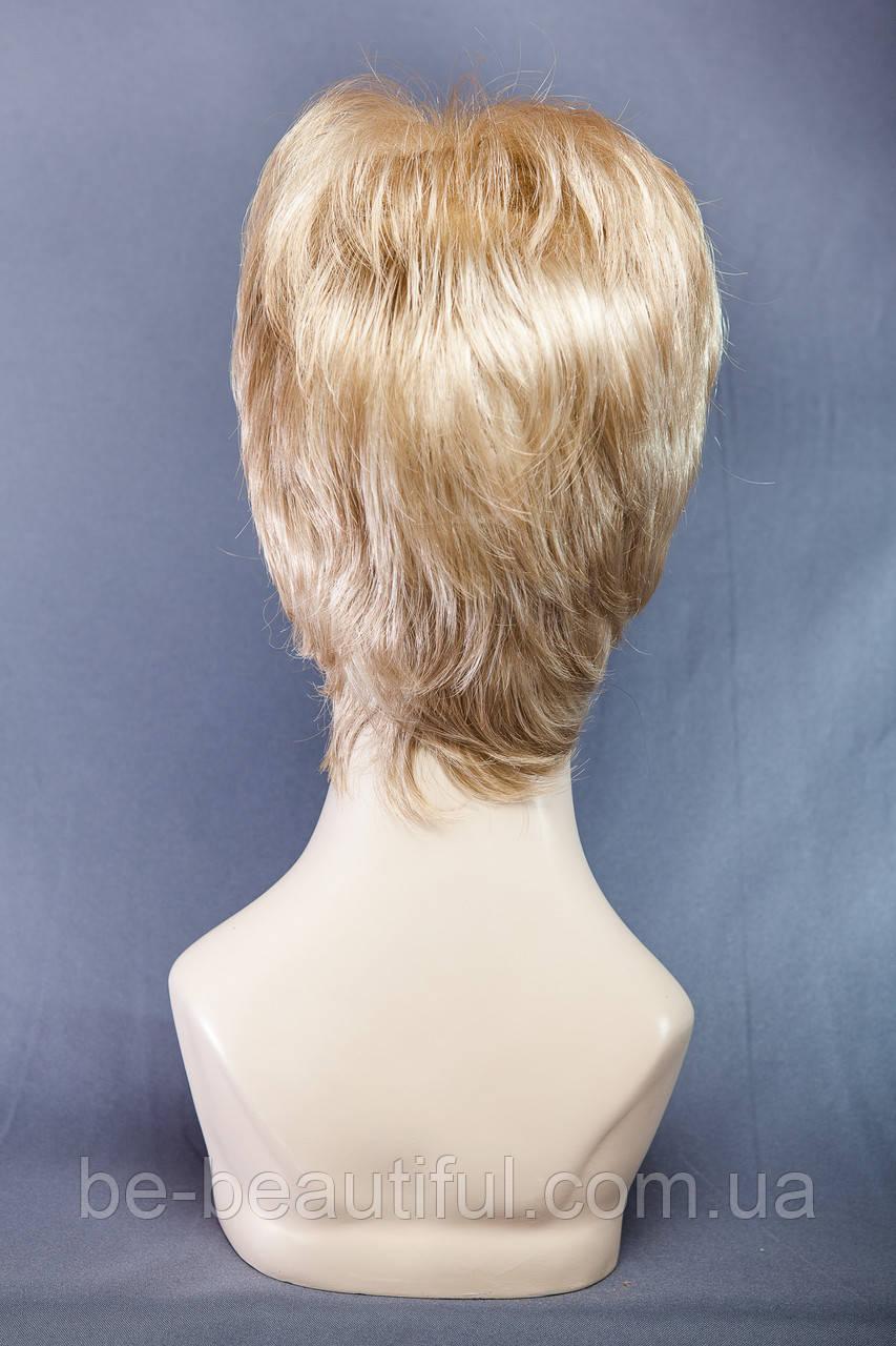 Короткие парики №6,цвет мелирование светло-русый с белым
