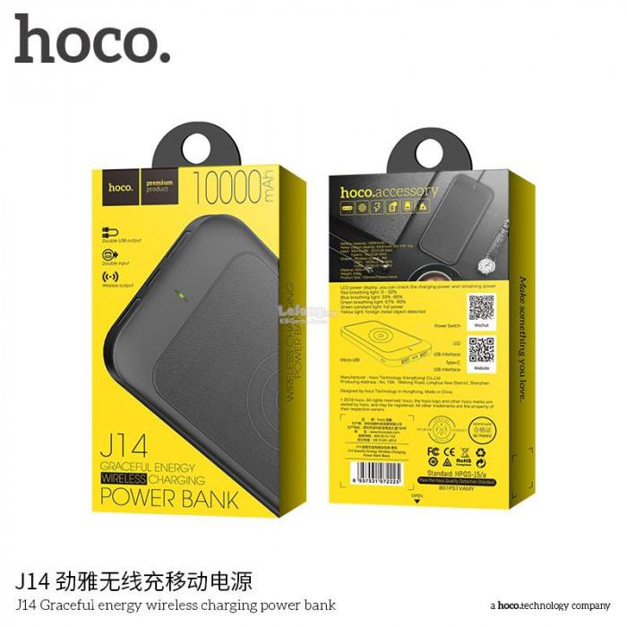Внешний аккумулятор Power Bank Hoco J14 Graceful energy wireless charging 10000mAh Original