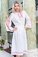Женское красивое белое платье с вышивкой, фото 1