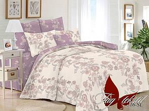 Двухспальное постельное белье поплин ТМ TAG SL316