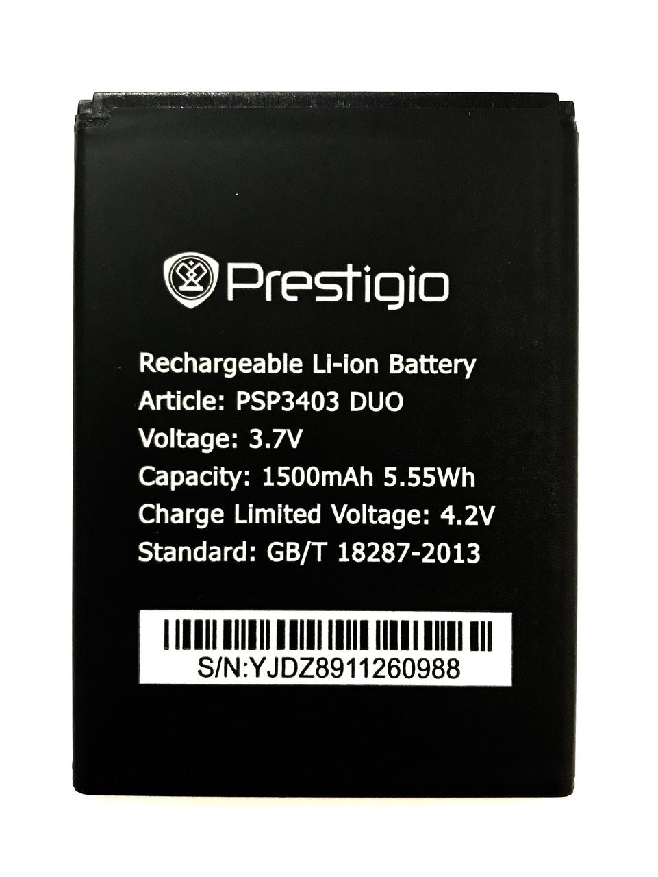Prestigio Wize L3 PSP3403DUO Акумулятор Батарея
