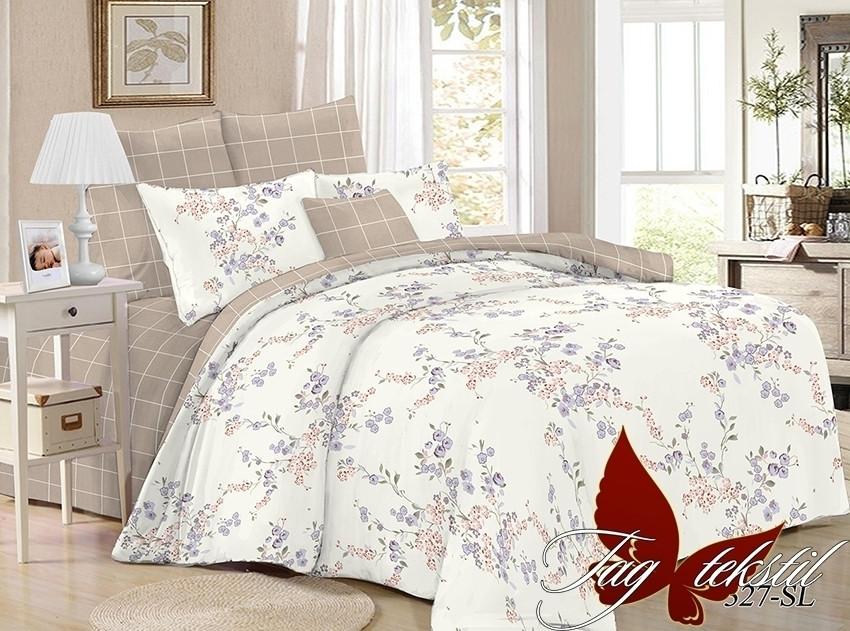 Двухспальное постельное белье поплин ТМ TAG SL327