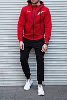 Мужской спортивный костюм Найк, красный с чёрным