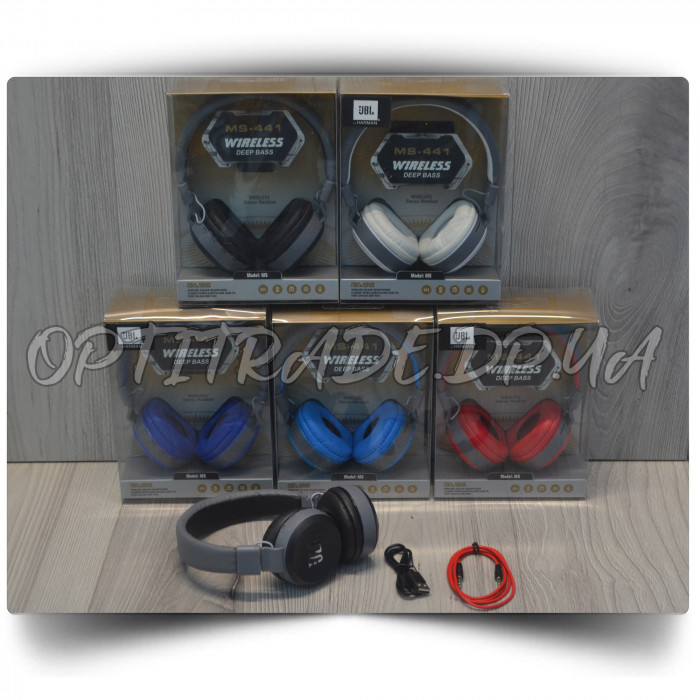 "Наушники Bluetooth ""JBL MS-441"" Deep Bass"