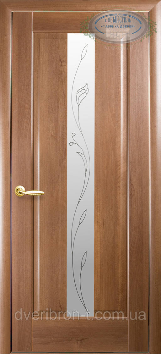 Двери Новый Стиль Премьера + Р2 золотая ольха, коллекция Маэстра Р