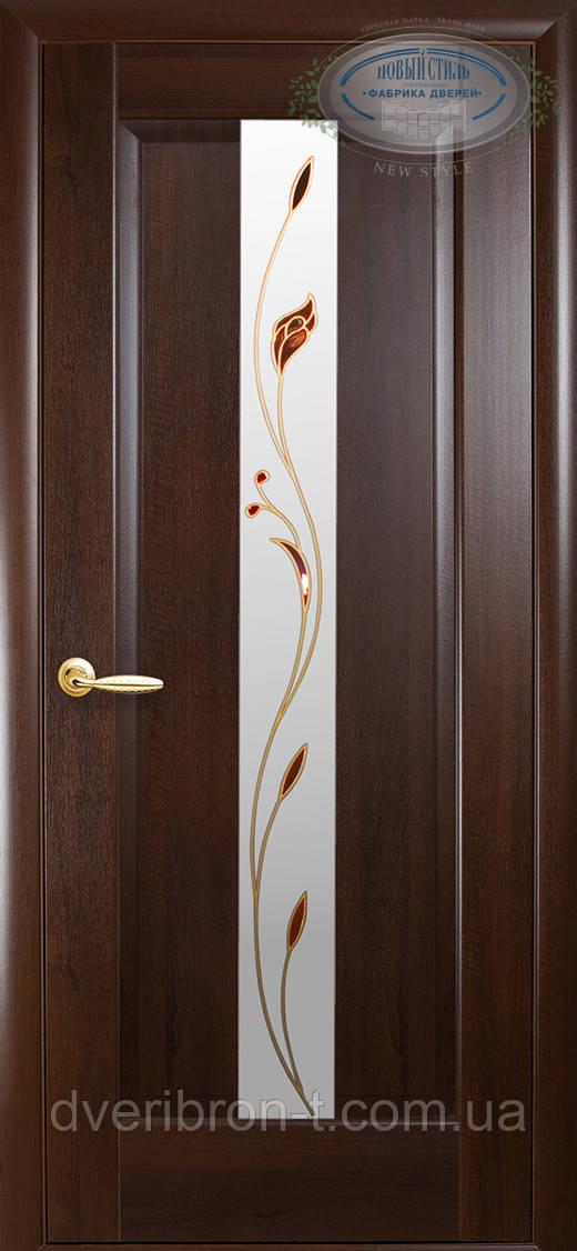 Двери Новый Стиль Премьера +Р1 каштан, коллекция Маэстра Р