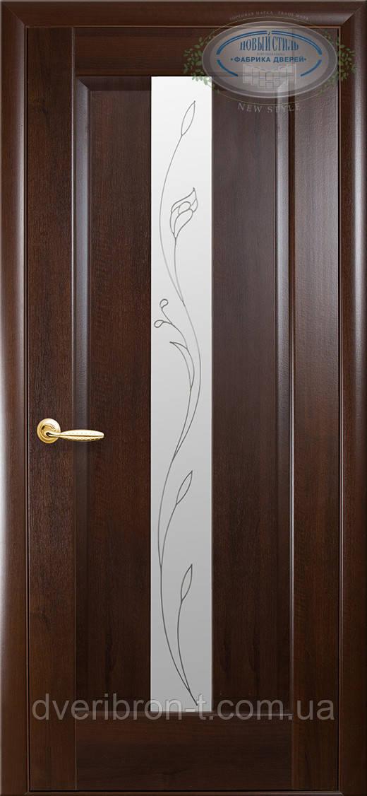 Двери Новый Стиль Премьера + Р2 каштан, коллекция Маэстра Р