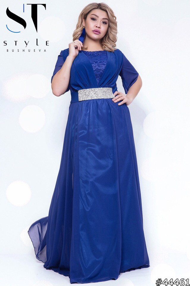 Шифоновое вечернее платье в пол (р.48-52)