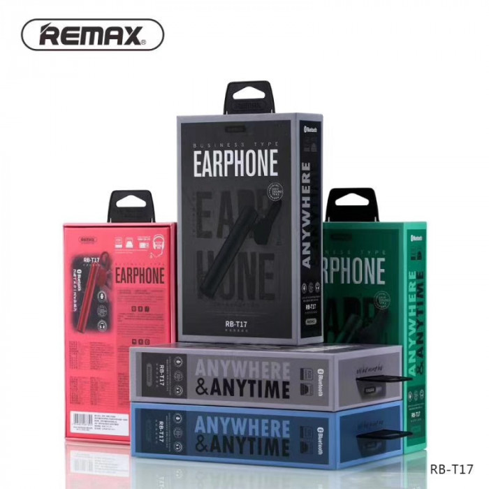 Bluetooth Гарнитура Remax Business type bluetooth earphone RB-T17 ORIGINAL