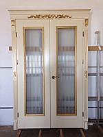 Елітні подвійні двері з масиву Цукрові