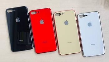 Накладка iPhone 7/8+ Glass Logo