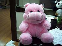Мягкая игрушка Бегемот (сердце бьется) 30см №8372-30,мягкие игрушки,детские подарки,товары для детей