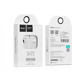 Наушники MP3 Hoco  M1 (В стиле iPhone) White