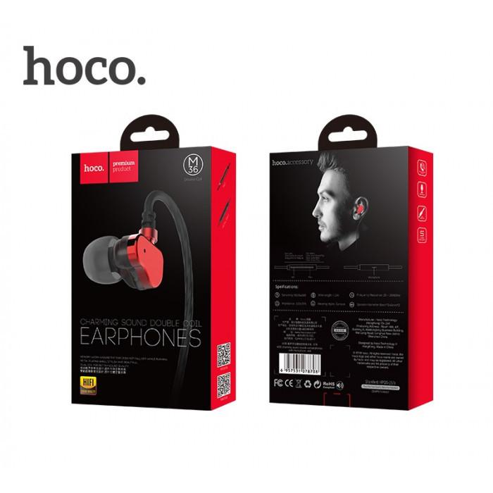 Наушники MP3 Hoco M36 charming sound double coil c микрофоном ORIGINAL