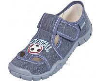 Детские тапочки для мальчика р. 26-36 (мокасины, текстильная обувь)