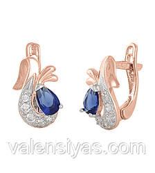 Серебряные женские серьги С3ФС/098
