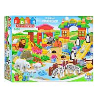 """Конструктор JDLT 5095 (Аналог Lego Duplo) """"Зоопарк"""" 120 деталей"""