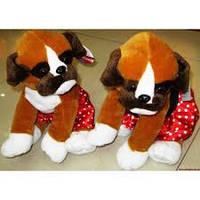 Мягкая игрушка Собака боксер №56003-21, мягкие игрушки для детей и взрослых,качественный,праздничные подарки