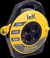 Котушка УК10 з термозахистом 4 місця 2Р+РЕ/10м 3х1,0мм2 Industrial IEK