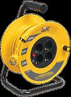 Котушка УК20 з термозахистом 4 місця 2Р+РЕ/20м 3х1,0мм2 Industrial IEK
