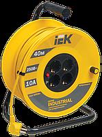 Котушка УК40 з термозахистом 4 місця 2Р+РЕ/40м 3х1,0мм2 Industrial IEK