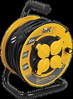 Котушка УК30 з термозахистом 4 місця 2Р+РЕ/30м 3х1,5мм2 IP44 Industrial plus IEK