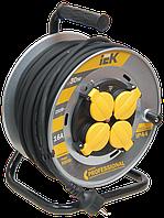 Котушка УК30 на мет. з термозахистом 4 місця 2Р+РЕ/30м КГ 3х2,5мм2 IP44 Professional IEK