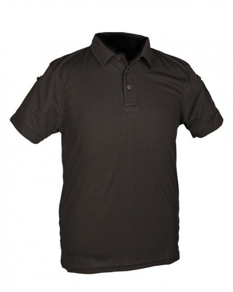 Тактическая футболка поло Mil-tec черная для полиции