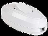 Вимикач 1-клавішний розбірний для бра СБ-01Б білий IEK