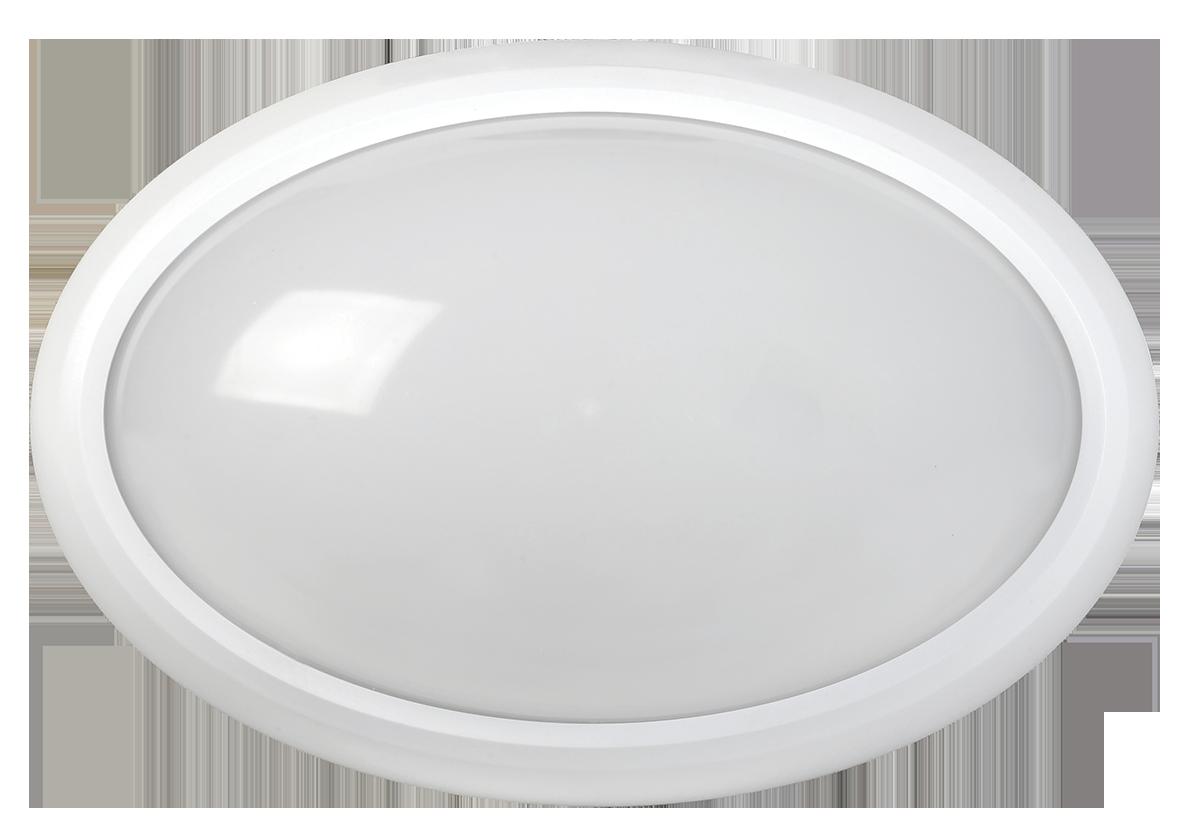 Светильник светодиодный ДПО 3040Д 12Вт 4500K IP54 овал белый пластик с датчиком движения IEK