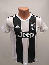 Футбольная форма детская рост 120 см в стиле Adidas Juventus чёрно-белая сезон 2019