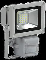 Прожектор светодиодный СДО 05-10Д (детектор) SMD IP44 серый IEK