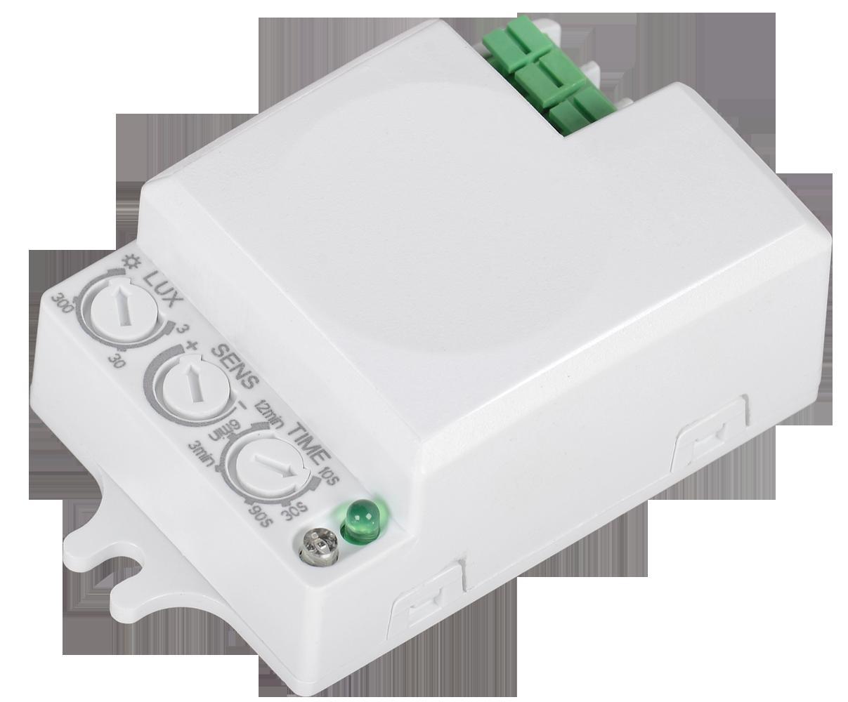 Датчик движения ДД-МВ401 500Вт 360град 8м IP20 белый IEK
