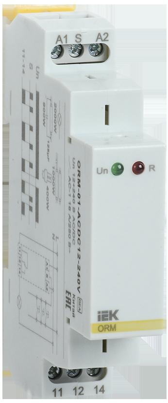 Импульсное реле ORM. 1 конт. 12-240 В AC/DC IEK