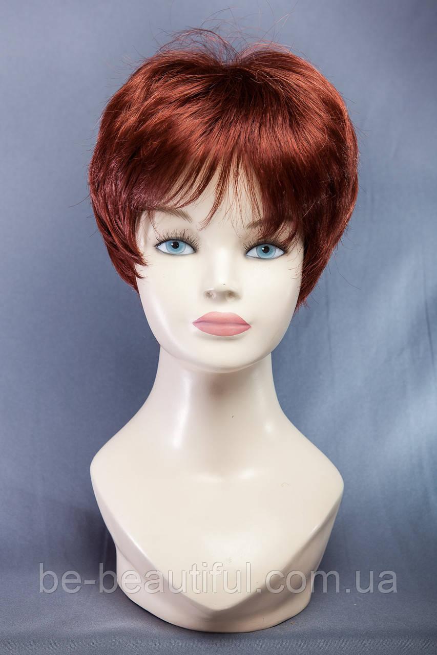 Короткие парики №7,цвет медный красный