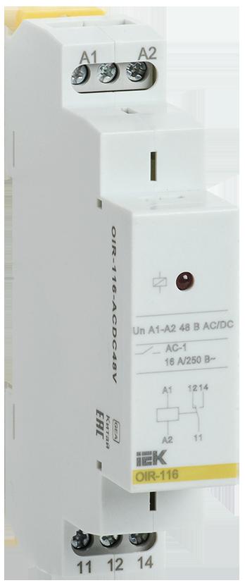 Промежуточное модульное реле OIR 1 конт (16А) 48 В AC/DC IEK